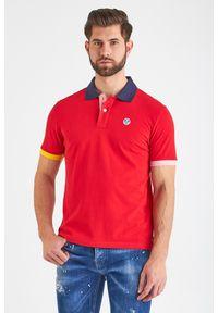 Koszulka polo North Sails sportowa, polo, w jednolite wzory