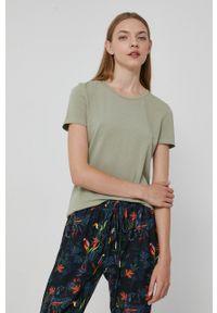 medicine - Medicine - T-shirt Basic. Okazja: na co dzień. Kolor: zielony. Materiał: bawełna, dzianina. Wzór: gładki. Styl: casual