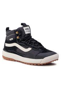 Czarne buty sportowe Vans z cholewką