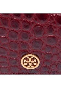 Tory Burch - Torebka TORY BURCH - Walker Embossed Nano Wallet On Chain 74914 Claret 639. Kolor: czerwony. Materiał: skórzane. Styl: biznesowy, klasyczny, wizytowy