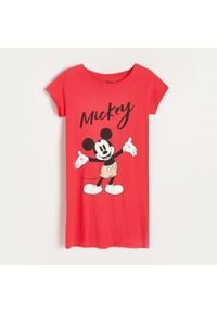 Reserved - Koszula nocna Mickey Mouse - Czerwony. Kolor: czerwony. Wzór: motyw z bajki