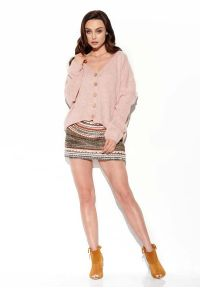 Różowy sweter oversize Lemoniade krótki