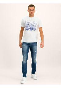Armani Exchange Jeansy 6GZJ13 Z1RMZ 1500 Granatowy Slim Fit. Kolor: niebieski. Materiał: jeans, elastan, bawełna