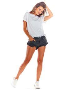Awama - Biała Oversizowa Bluzka Wiązana na Plecach. Kolor: biały. Materiał: wiskoza, elastan
