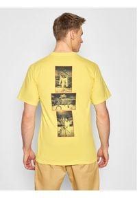 HUF T-Shirt KILL BILL Versus TS01538 Żółty Regular Fit. Kolor: żółty