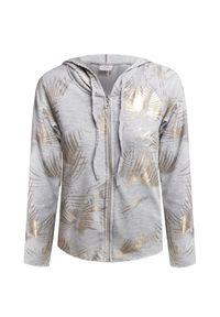 Szara bluza Deha z nadrukiem, raglanowy rękaw