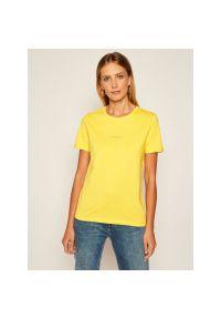 Żółty t-shirt Calvin Klein