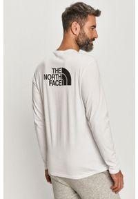 Biała koszulka z długim rękawem The North Face casualowa, na co dzień