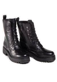 Czarne buty trekkingowe Tamaris z aplikacjami