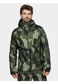 4f - Kurtka narciarska męska. Typ kołnierza: kaptur. Kolor: wielokolorowy. Materiał: poliester, mesh, materiał. Sezon: zima. Sport: narciarstwo