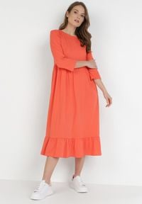 Born2be - Pomarańczowa Sukienka Himeete. Kolor: pomarańczowy