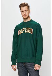Zielona bluza nierozpinana GAP bez kaptura, casualowa, na co dzień