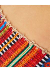 DEL MAAR - Top od bikini w paski. Kolor: czerwony. Materiał: prążkowany. Wzór: paski