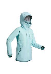WEDZE - Kurtka narciarska freeride JKT SKI FR900 damska. Kolor: niebieski. Materiał: materiał. Sport: narciarstwo