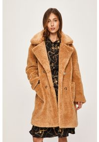 Złoty płaszcz ANSWEAR klasyczny, bez kaptura