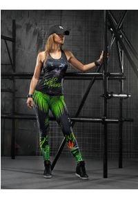 FJ! - Top Panther. Materiał: skóra, dzianina, lycra. Wzór: motyw zwierzęcy, nadruk, aplikacja. Sport: fitness, joga i pilates