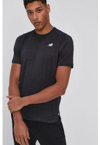 New Balance - T-shirt. Okazja: na co dzień. Kolor: czarny. Styl: casual