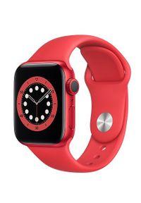 Czerwony zegarek APPLE smartwatch, sportowy