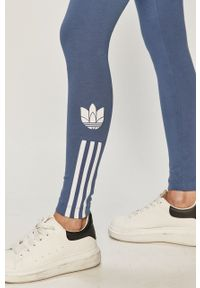 Legginsy adidas Originals gładkie, z podwyższonym stanem
