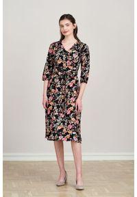 Marie Zélie - Sukienka Duilin Dianthus. Materiał: bawełna, wiskoza, tkanina. Typ sukienki: kopertowe