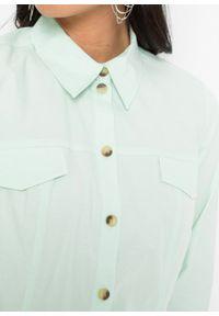 Bluzka bonprix miętowy. Kolor: zielony