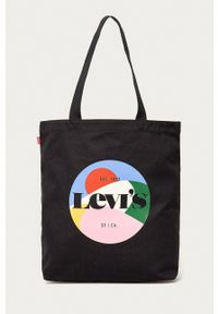 Levi's® - Levi's - Torebka. Kolor: czarny. Styl: biznesowy