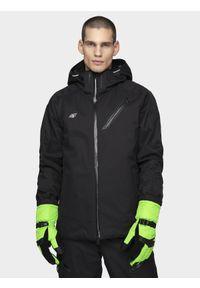 4f - Kurtka narciarska męska HQ Performance. Kolor: czarny. Materiał: mesh. Technologia: Dermizax. Sezon: zima. Sport: narciarstwo