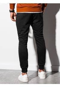 Ombre Clothing - Spodnie męskie dresowe joggery P903 - czarne - XXL. Kolor: czarny. Materiał: dresówka