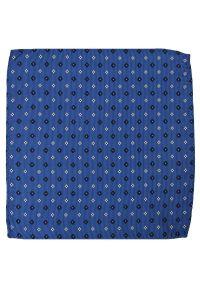 Niebieska poszetka Alties w kolorowe wzory