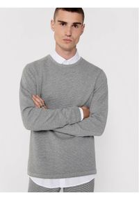 Only & Sons - ONLY & SONS Sweter Panter 22016980 Szary Regular Fit. Kolor: szary. Wzór: motyw zwierzęcy