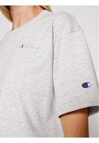 Champion T-Shirt Script Logo Embroidery 112732 Szary Oversize. Kolor: szary