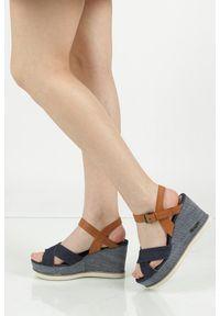 Niebieskie sandały Wrangler casualowe, na co dzień, na lato