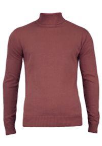 Różowy sweter Brave Soul klasyczny, z golfem, na zimę