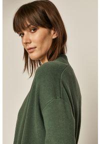 Sweter rozpinany medicine z długim rękawem, długi