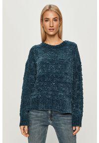Niebieski sweter Pepe Jeans z długim rękawem, długi