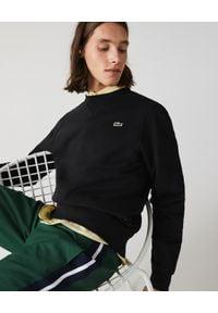 Lacoste - LACOSTE - Bawełniana bluza z haftem. Kolor: czarny. Materiał: bawełna. Wzór: haft. Styl: klasyczny, elegancki, sportowy