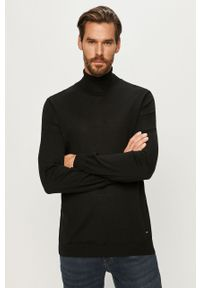 Czarny sweter JOOP! długi, z długim rękawem