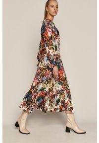 medicine - Medicine - Sukienka Flower Traces. Materiał: tkanina. Długość rękawa: raglanowy rękaw. Typ sukienki: rozkloszowane