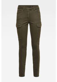 Zielone spodnie materiałowe G-Star RAW z podwyższonym stanem