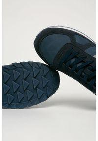 Niebieskie buty sportowe Big-Star z cholewką, na sznurówki
