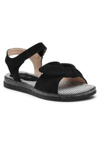 Czarne sandały Nelli Blu z aplikacjami