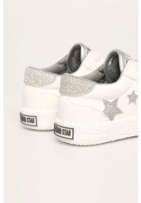 Białe buty sportowe Big-Star z okrągłym noskiem, na sznurówki