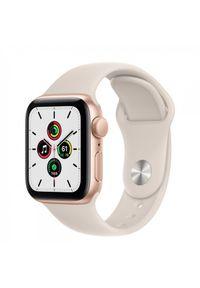 APPLE - Smartwatch Apple Watch SE GPS 40mm aluminium, złoty | księżycowa poświata pasek sportowy. Rodzaj zegarka: smartwatch. Kolor: złoty. Styl: sportowy