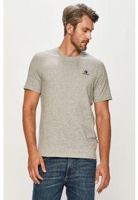 Szary t-shirt Converse na co dzień, z okrągłym kołnierzem