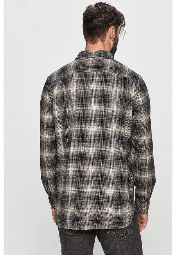 Czarna koszula Levi's® długa, z klasycznym kołnierzykiem, w kolorowe wzory, z długim rękawem