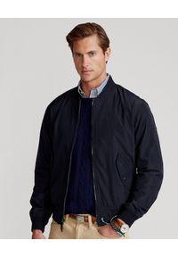 Niebieska kurtka Ralph Lauren polo, z haftami