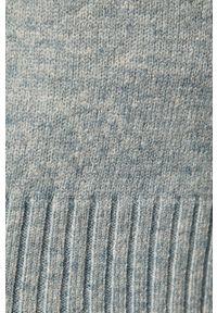 Niebieski sweter rozpinany Vila na co dzień, casualowy