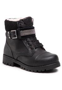 Czarne buty zimowe Mayoral z aplikacjami, z cholewką