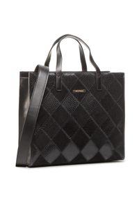 Czarna torebka klasyczna TwinSet zamszowa