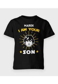 MegaKoszulki - Koszulka dziecięca I am Your son - Biały napis. Kolor: biały. Materiał: bawełna. Wzór: napisy